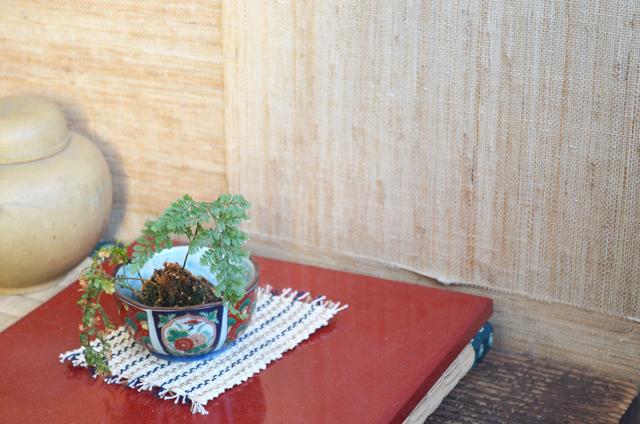 大井川葛布工房内の壁紙