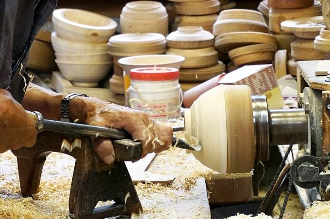 漆器の木地師