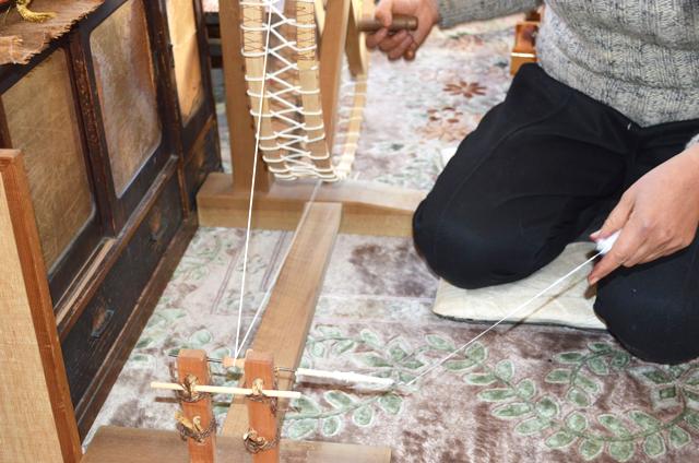 和棉の糸紡ぎ_糸車