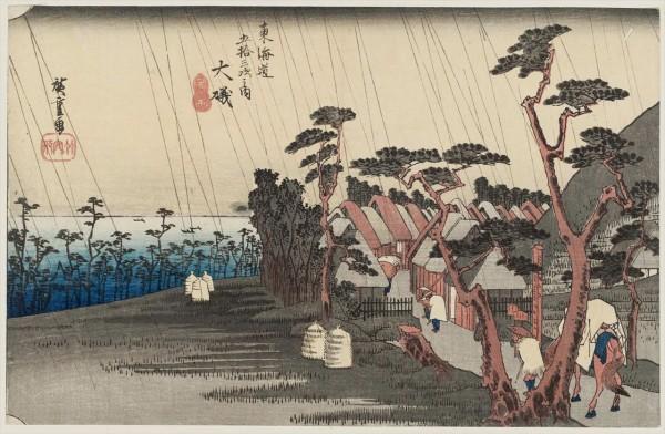 広重東海道五十三次の大磯宿の浮世絵