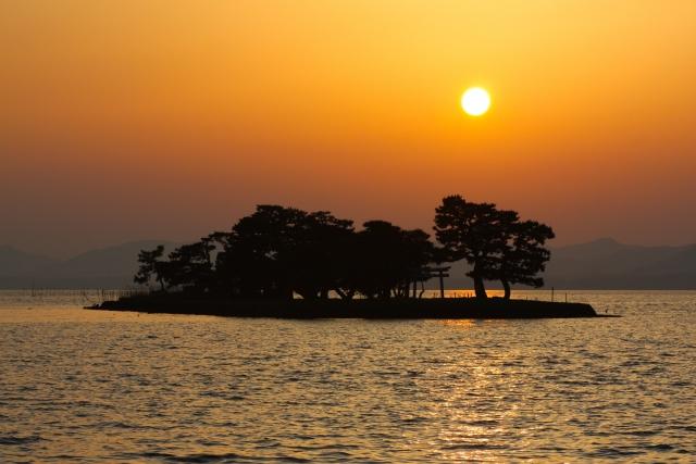 松江の宍道湖