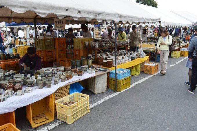 益子陶器市の写真