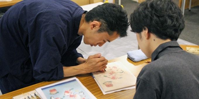 浮世絵版画職人作業風景
