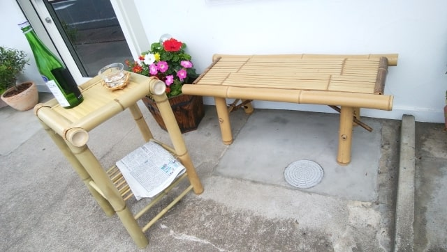 石山好美さんの竹工芸椅子